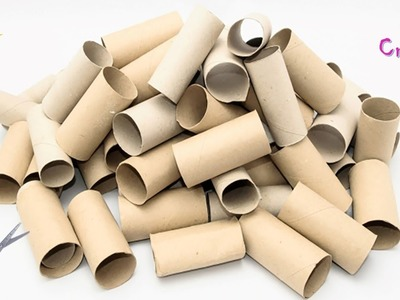 3 tissue roll craft ideas | waste material craft | reuse | best out of waste ideas for your home