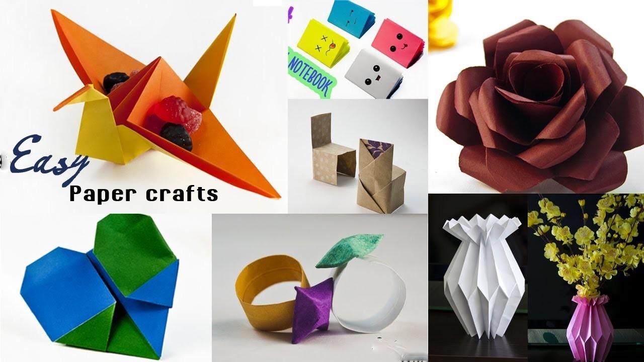 7 Easy Paper Crafts Ideas - Amazing Craft Idea - DIY