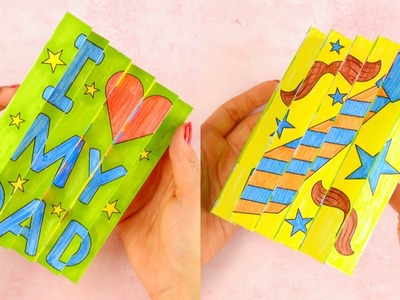 Agamograph Father's Day Paper Craft for Kids