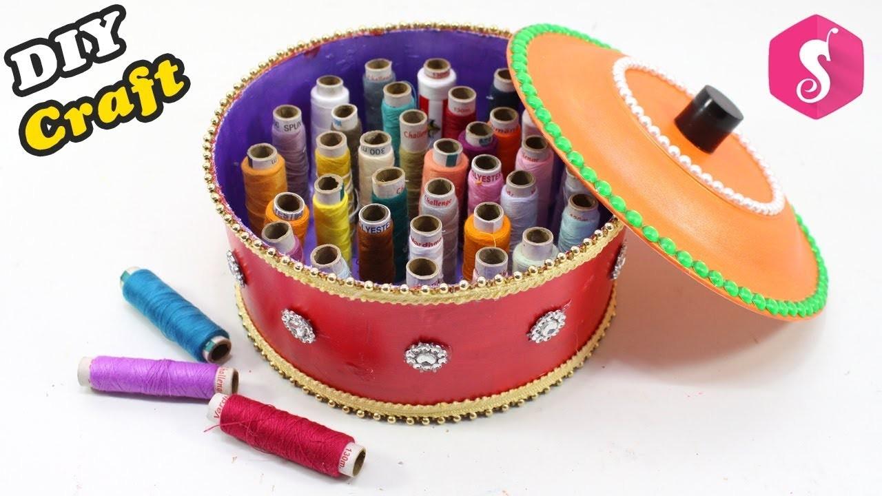 Amazing THREAD BOX Craft Idea | Easy Iron Nail Craft | Resue PAINT BUCKET
