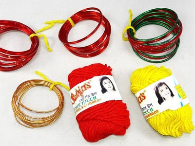 Best craft idea | Diy old bangles reuse idea | DIY arts and crafts | Amazing craft idea