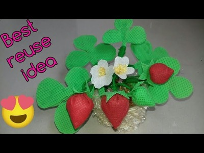 Best out of waste.Waste material craft idea (85)