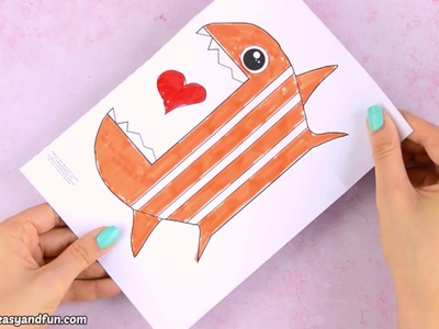 Big Mouth Fish Paper Craft for Kids