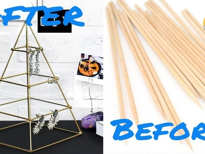 CRAFT TO MAKE WITH A BAMBOO SKEWER| How To Reuse Bamboo Skewer-Best Out Of Waste-jewellery organiser