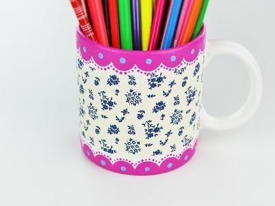 Decoupage mug - Decoupage tutorial - DIY - Do It Yourself