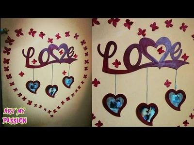 DIY 3D Wall Sticker using Cardboard | wall hanging | Diy photo frame using cardboard | artmypassion