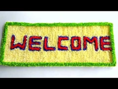 DIY - AMAZING CRAFT FOR WELCOME ON PLASTIC NET || HOW TO MAKE WOOLEN CRAFT FROM PLASTIC NET ||