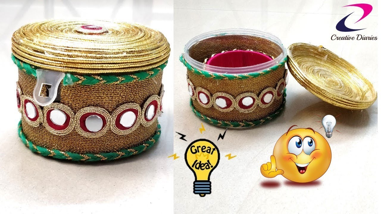 DIY Best out of waste craft idea I Make Bangle Box at home I Creative Diaries