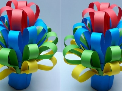 DIY: Best out of waste Materials  Craft Idea with Colors Paper. Craft Idea-01