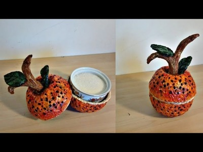 DIY :BEST OUT OF WASTE. PAPER CLAY FRUIT BOWL. HANDMADE CLAY CRAFT: