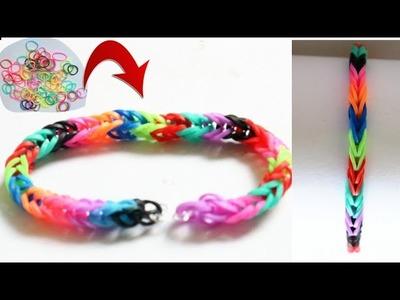 DIY Bracelet.Making Friendship band.Loom Bracelet.Rainbow bracelet.Easy Rubber craft for kids