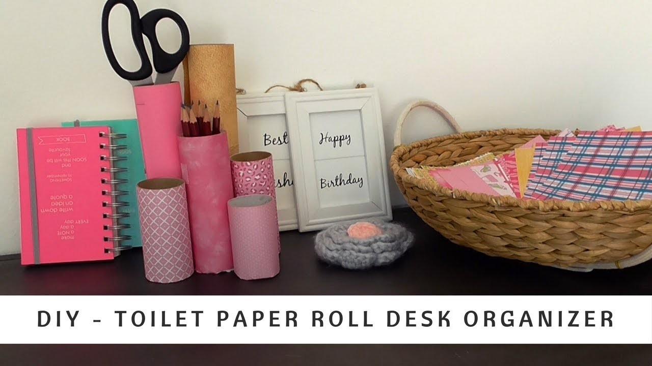 DIY Desk Organizer Idea | Toilet Paper Rolls Hack | ®The Craft Kingdom - Official
