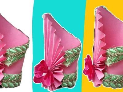 Tissue paper flowers flower vase making with quilling paper diy easy flower pot easy paper craft flower vase mightylinksfo