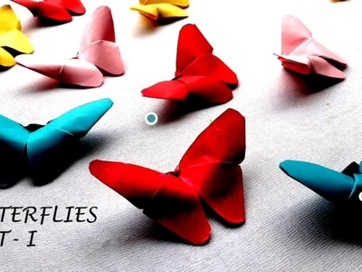 DIY Handmade paper Butterflies by craft and innovation || part-1 ||