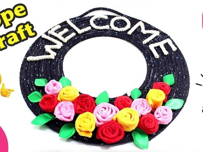 DIY Old Rope Craft Idea. WELCOME Sign Showpiece from Rope By Sonali Creation