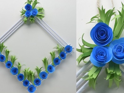 Diy paper flower wall hanging | Wall Decoration ideas | How To Make Easy paper flower wall hanging