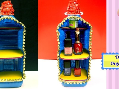 DIY Plastic Bottle Makeup Organizer - Inspiring Craft Ideas Using Plastic Bottle - Best out of Waste