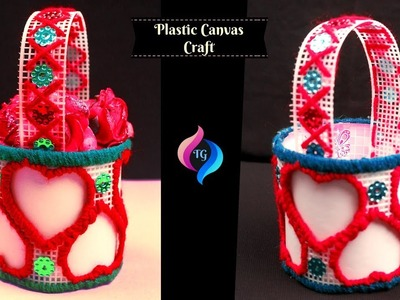 DIY Plastic Canvas Craft - Plastic Canvas - Projects for the Home - Plastic Canvas Easter Basket