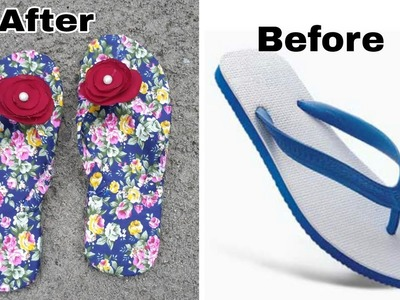 Diy recycled craft idea. easy craft idea with hawaii chappal.recycled craft idea