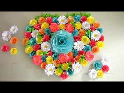 DIY. Simple Home Decor. Wall Decoration. Hanging Flower. Paper Craft Ideas #24