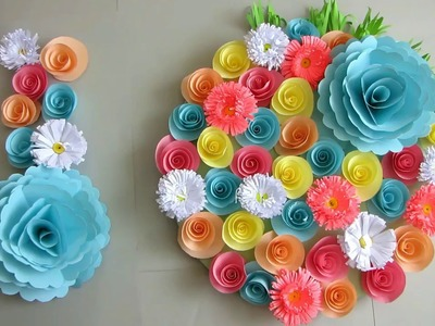 DIY. Simple Home Decor. Wall Decoration Door. Hanging Flower. Paper Craft Ideas #55