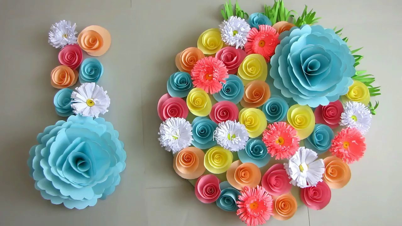 Diy Simple Home Decor Wall Decoration Door Hanging Flower Paper