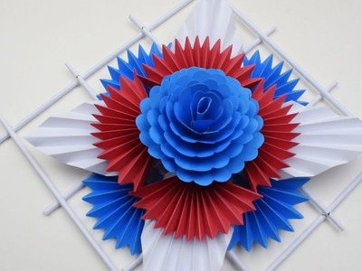 DIY: Simple Home Decor  - Wall Decoration Ideas - Hanging Flower - Paper Craft Ideas