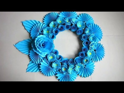 DIY. Simple Home Decor. Wall Decoration Door. Hanging Flower. Paper Craft Ideas #36