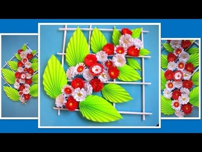 DIY. Simple Home Decor. Wall Decoration. Hanging Flower. Paper Craft Ideas #35