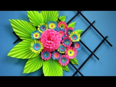 DIY. Simple Home Decor. Wall Decoration. Newspaper craft. recycle. Hanging Flower.