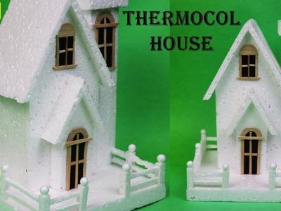 DIY thermocol house || raj easy craft house || how to make Thermocol house