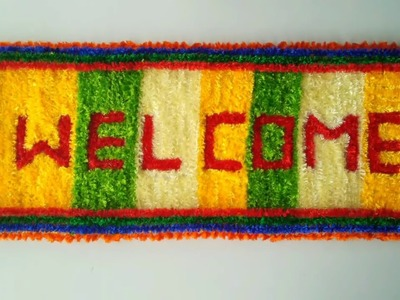 DIY WOOLEN CRAFT FOR WELCOME    WELCOME CRAFT IDEAS    BEAUTIFUL WOOLEN CRAFT FOR WELCOME MAKING   