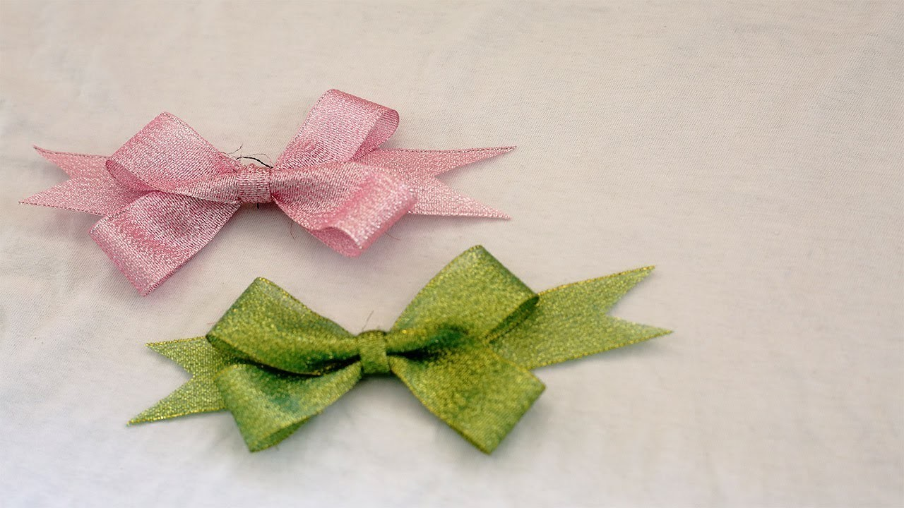 Easiest Way To Make Beautiful Ribbon Bow Useful Craft Ideas