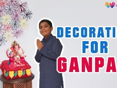 Ganpati Decoration ideas | Eco friendly ganpati decoration