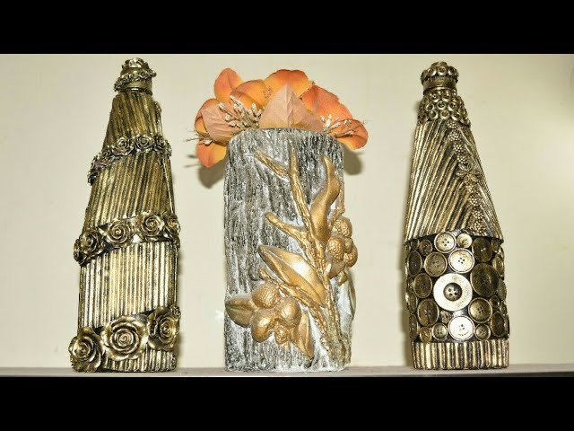 Glass Bottle Craft Ideas Diy Glass Bottle Decoration Best Out Of Waste