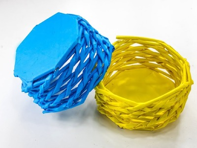 How To Make A Paper Basket at Home | DIY Paper Craft | Easy Craft