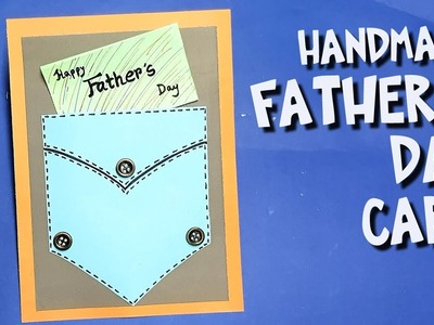 How to make Easy Father's Day Card  DIY  Paper craft wallet card, fathers' days craft
