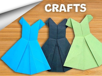 How to make Frock ???? Paper craft | DIY crafts | minute crafts for kids | easy origami