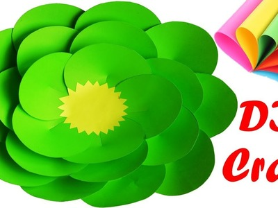 How to make giant paper flowers easy    DIY wall hanging craft    Giant flower wallmate