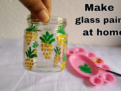 How to make glass paint at home.easy diy craft idea