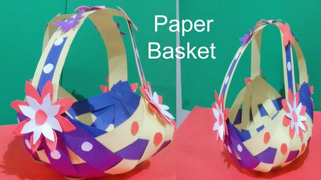 How To Make Paper BasketDIY Craftbasket Making IdeaDIY Basketdecor CraftArt Gallery