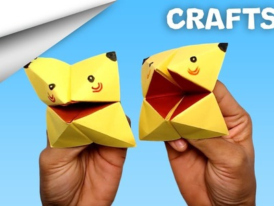 How to make Pikachu Paper craft   DIY crafts   minute crafts for kids   easy origami