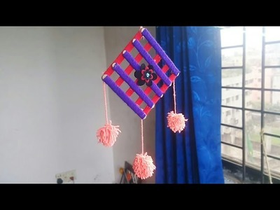 Ice Cream Stick-woolen craft Idea | Best out of Waste | DIY Home Decoration