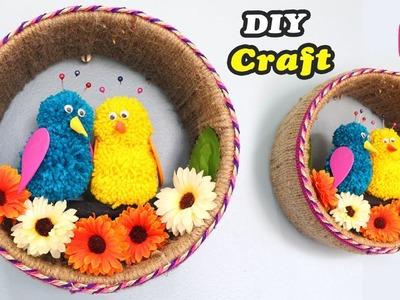 JUTE & WOOL Craft | Easy DIY Craft | Old Paint Bucket Idea | Sonali Creations