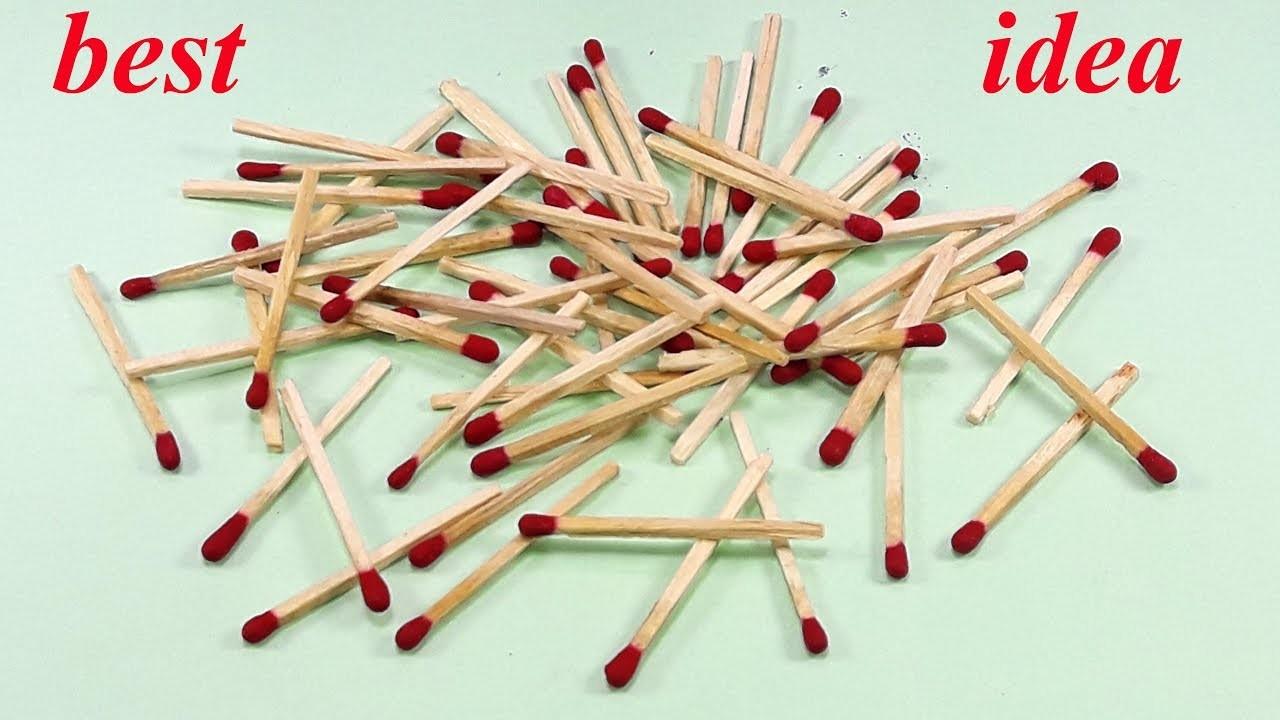 Matchstick Art And Craft Idea Best Craft Idea Diy Arts And Crafts