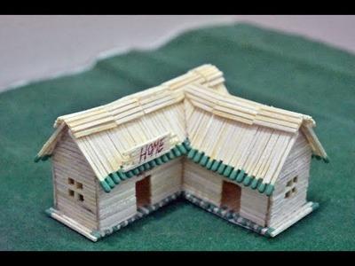 Matchstick Art and Craft Ideas | How to Make a Miniature Matchstick House | Matchstick House