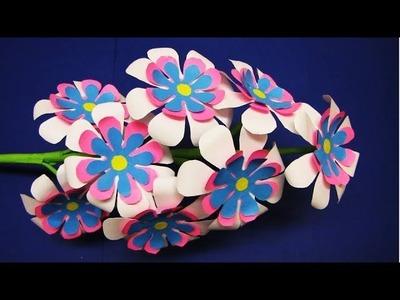 Paper Flower Stick. DIY. Paper Craft. Handcraft. DIY: How to Make Beautiful Paper Flower Stick 3