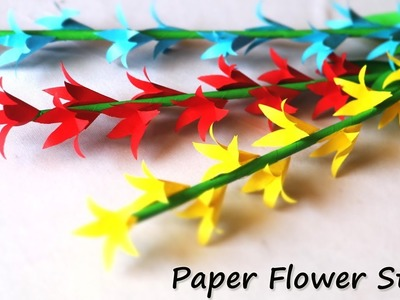 Paper Flower Stick   Paper Craft Easy   DIY Room Decor