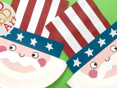 Paper Plate Uncle Sam DIY Decor - Easy Paper Plate 4th July Craft - DIY Uncle Sam!