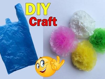 Plastic Cover Flower Making | DIY Plastic bag flower | Home Decor | Best Craft Idea | Dots DIY